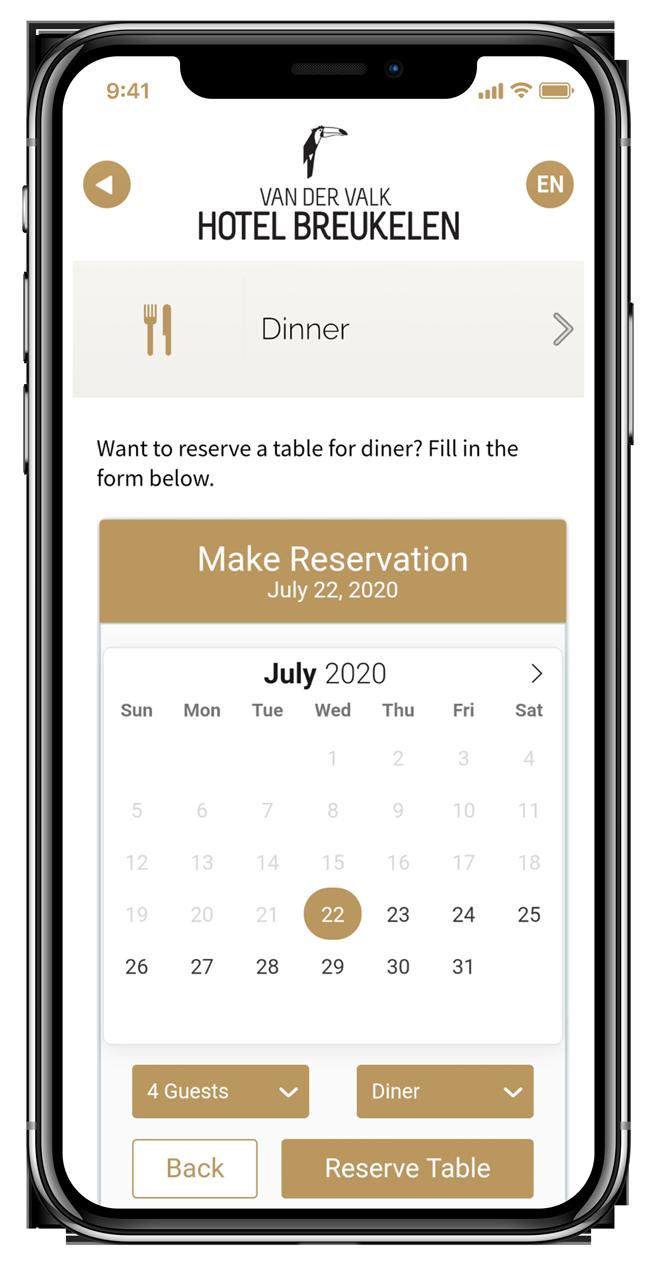 DineTime - Tafels voor restaurants reserveren met een webapp