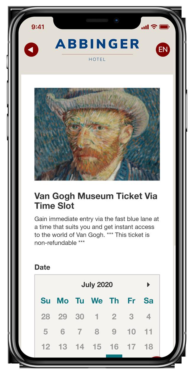 Museum en attractie tickets kopen met een webapp